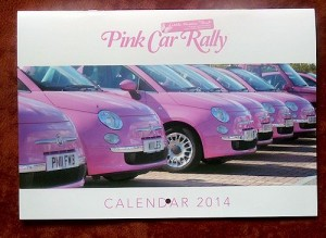Pink Car Rally 2014 calendar hits the road
