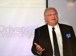 Lord Digby Jones speaks at the TTC Group business road safety event.