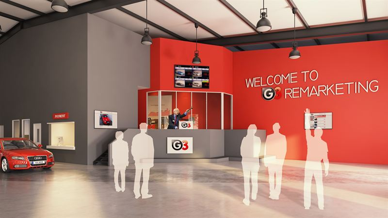 The new G3 Remarketing physical car auction hall, Leeds